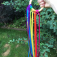 Fidget Hand Kite or Ribbon Wand  (Rainbow) Alzheimers, Austism or Dementia