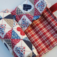 Crayon Roll...Patchwork hearts