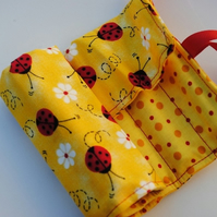 Lady birds...Crayon Roll