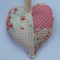 Patchwork Rose Heart....Rose petal smelling
