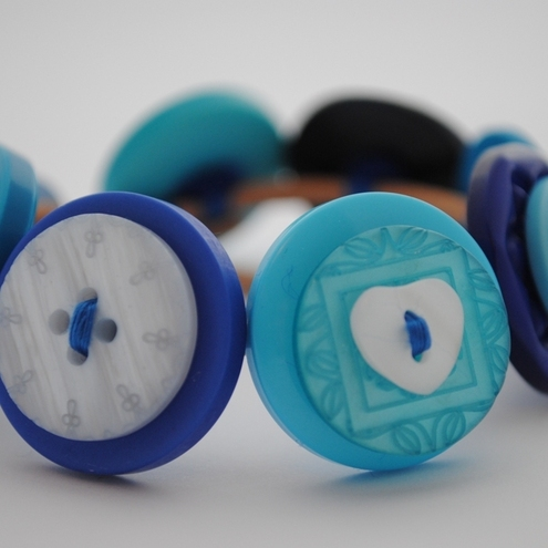 Button Bracelet...Got the blues?