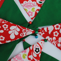 Christmas Bunting Mini...Michael Miller red, green