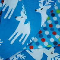 Christmas Mini Bunting...Robert Kaufman Reindeer and spots