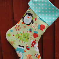 Traditional personalised Christmas stocking