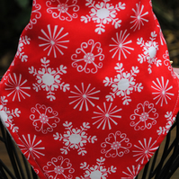 Christmas bandana bib...snow flakes