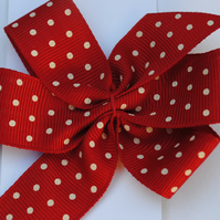 Bow Hair clip...red