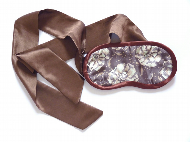 SALE Truffles & Ruffles Silk Eye-mask with bow