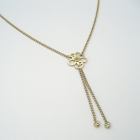 "Primrose 18ct Yellow Gold Flower Pendant on a 16"" Chain"