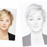 A4 Custom Commission Pencil Portrait From Your Photo, From Tricia Cole Jewellery