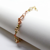 Gold Copper And Yellow Wire Bracelet Preciosa Crystal