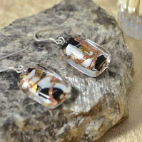 Murano Glass Sterling Silver Earrings