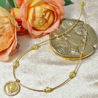 Gold Murano Glass Heart Necklace