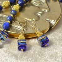 Royal Blue Murano Glass Earrings