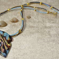 Gold Murano Leaf Necklace