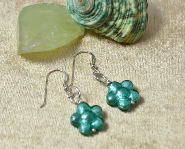 Verde Marino Murano Glass Earrings