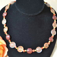 Sparkling Metallic Murano Glass Necklace