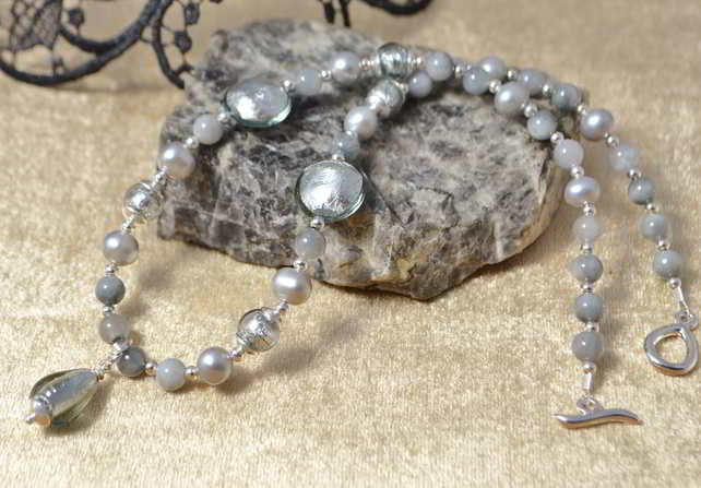 Pearl, Gemstone & Murano Glass Necklace