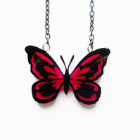 Layered butterfly necklace -small