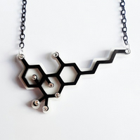 THC Cannabis Molecule necklace