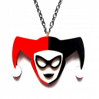 Harley Quinn necklace
