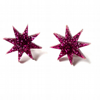 Jem glitter star earrings