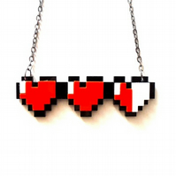 Zelda Heart Container necklace