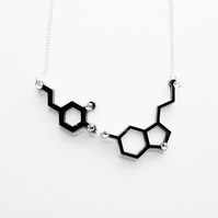 Dopomine and Serotonin molecule necklace