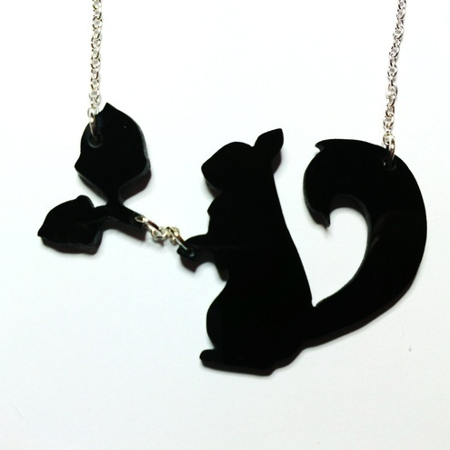 Hungry squirrel necklace