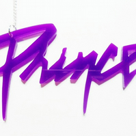 Prince logo necklace