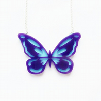 Sale Layered butterfly necklace - large