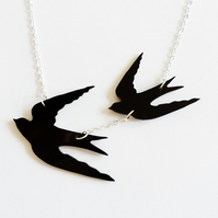 Sale Swallows in flight necklace