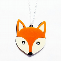 Frank the fox necklace
