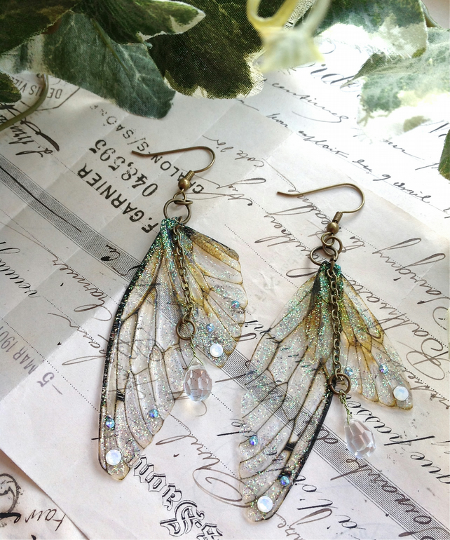 "Rather pretty ""Faerie wing earrings"""
