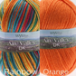 West Yorkshire Spinners Aire Valley duo - Rainbow & Orange