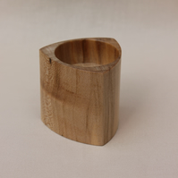 Three sided sycamore tea light candle holder