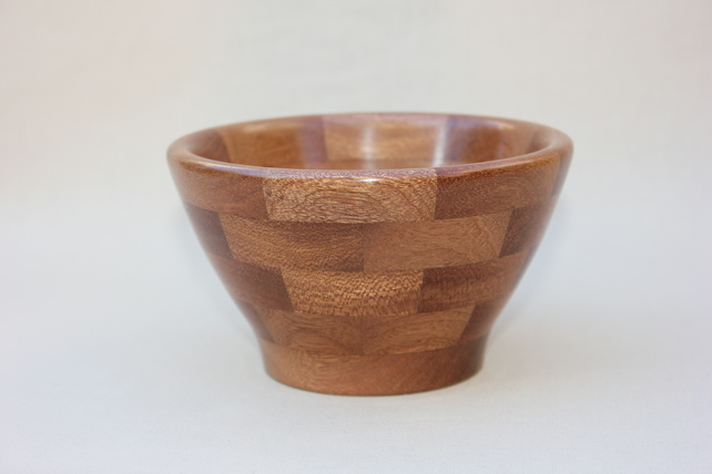 Turned wooden segmented bowl