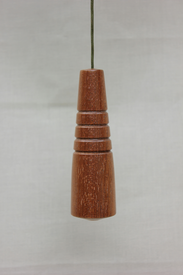 Turned wooden utile light pull