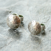 Sterling silver domed studs