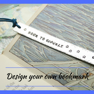 Design your own bookmark, hand stamped bookmark, personalised bookmark