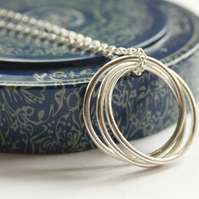 Long silver hoop necklace