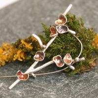 Sterling silver tree brooch