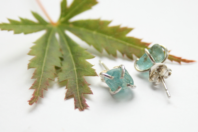Sterling silver and apatite earrings