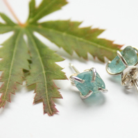 Sterling silver earrings, apatite earrings, gemstone earrings, stud earrings
