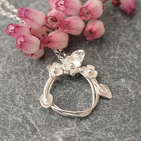 Sterling silver flower necklace