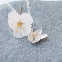 Sterling silver blossom necklace
