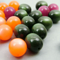 Destash - Vintage Lucite Moonglow Beads
