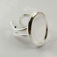Silver Plated Rings for Cabochons