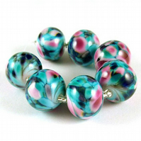 Handmade Lampwork Glass Beads - Batik