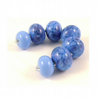 Blueberries - Handmade Lampwork Glass Beads - SRA