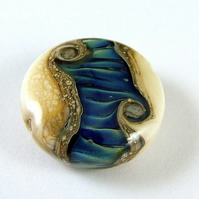 Ripples Handmade Lampwork Glass Focal Bead